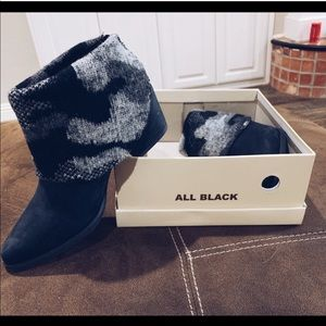 Anthropologie Sockcover booties by All Black